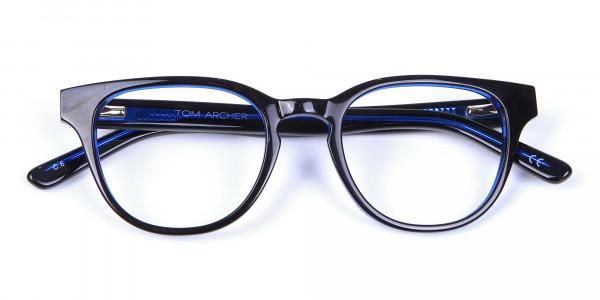 Cat Eye and Wayfarer Glasses in Blue - 5