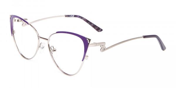 Purple Vintage Inspired Frame, Designer Glasses-3