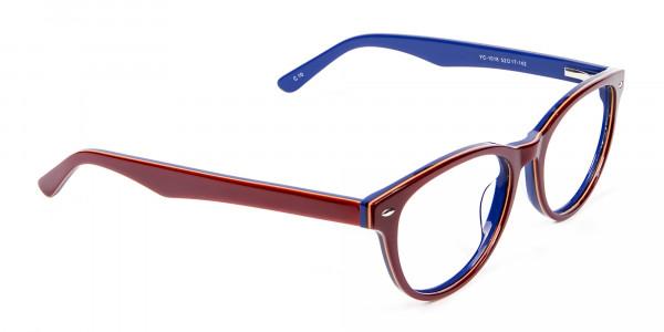 Mahogany & Navy Blue Frames - 1