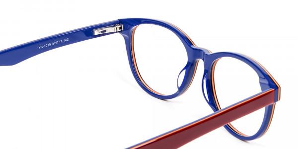 Mahogany & Navy Blue Frames - 4