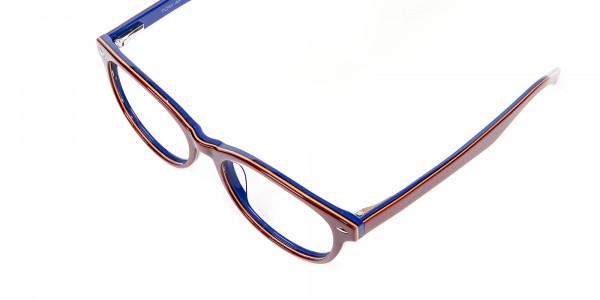 Mahogany & Navy Blue Frames - 5