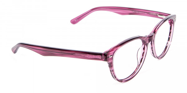 Wooden Plum Coloured Eyeglasses - 1