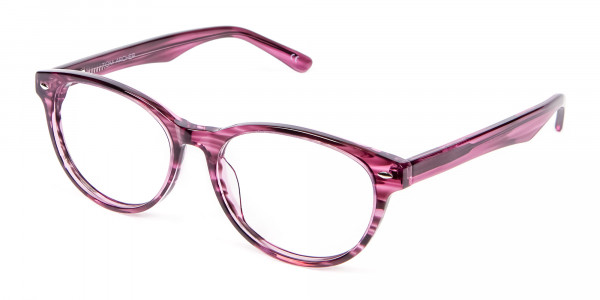 Wooden Plum Coloured Eyeglasses - 2