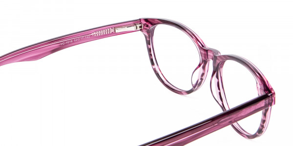 Wooden Plum Coloured Eyeglasses - 4