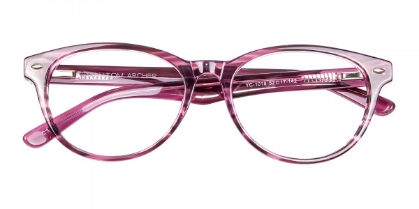 Wooden Plum Coloured Eyeglasses - 5