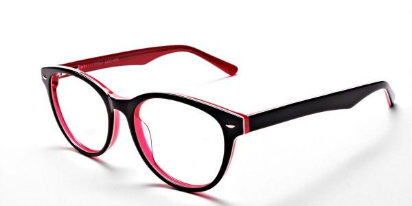 Black & Red Round JONES Cosmopolitan Glasses -3