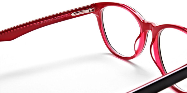 Black & Red Round JONES Cosmopolitan Glasses -5