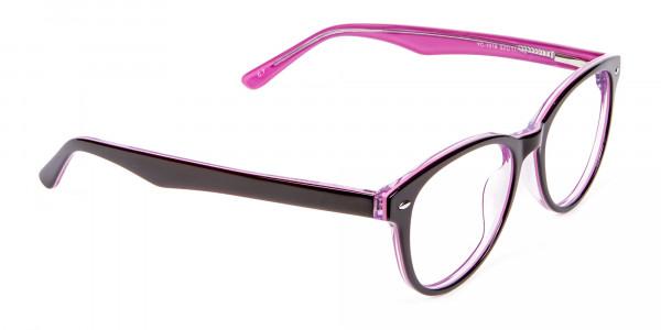 High Volume Electric Pink & Black Frames - 1