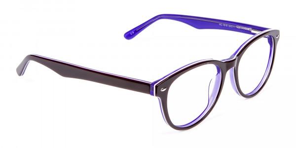 Black & Violet Eyeglasses Frame - 1
