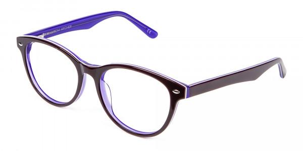 Black & Violet Eyeglasses Frame - 2