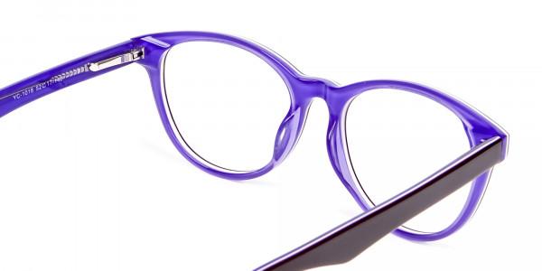 Black & Violet Eyeglasses Frame - 4