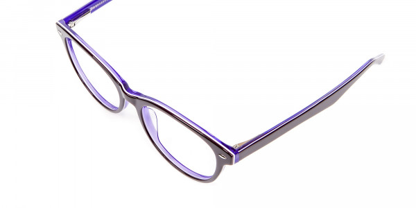 Black & Violet Eyeglasses Frame - 5