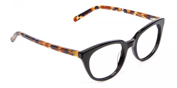Tortoiseshell and Black Cat Eye Style - 1