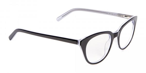 Black and White Combo Super Wild Cat Eye Frame - 1