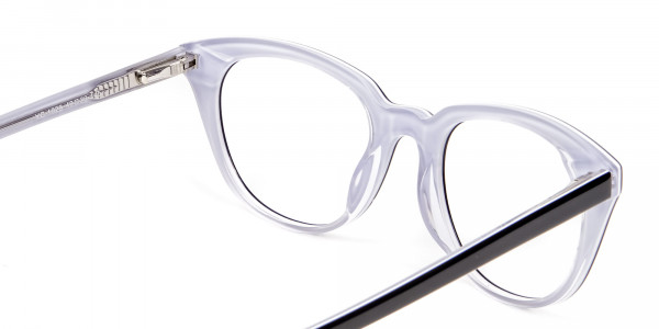 Black and White Combo Super Wild Cat Eye Frame - 4