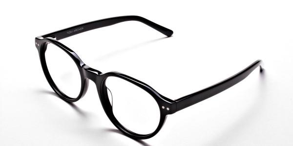 Smart Black Round Eyeglasses -3