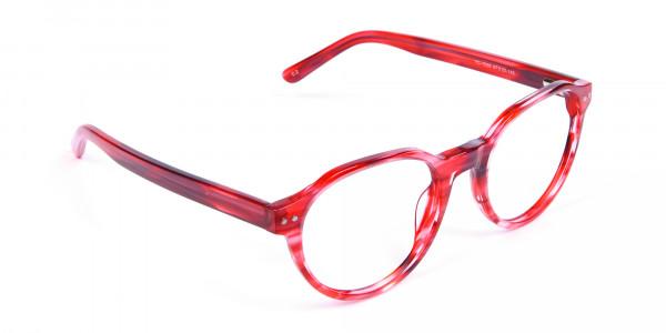 Crystal Ruby Red Eyeglasses - 1