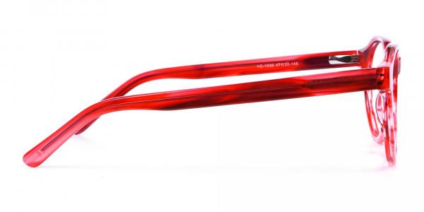 Crystal Ruby Red Eyeglasses - 3