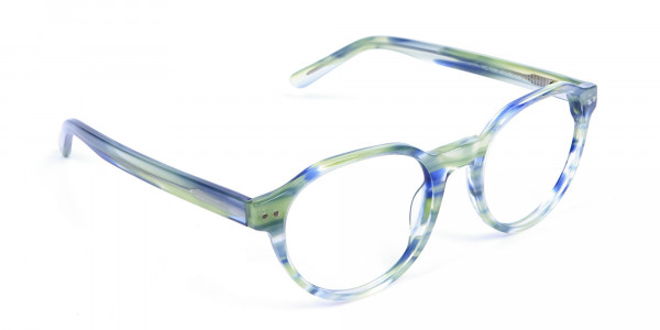 Forest Green & Ocean Blue Eyeglasses - 1