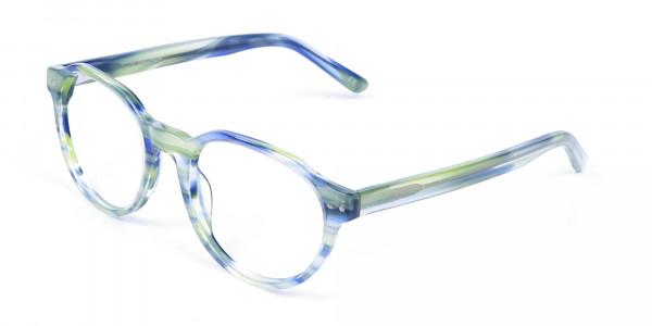 Forest Green & Ocean Blue Eyeglasses - 2
