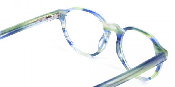Forest Green & Ocean Blue Eyeglasses - 4