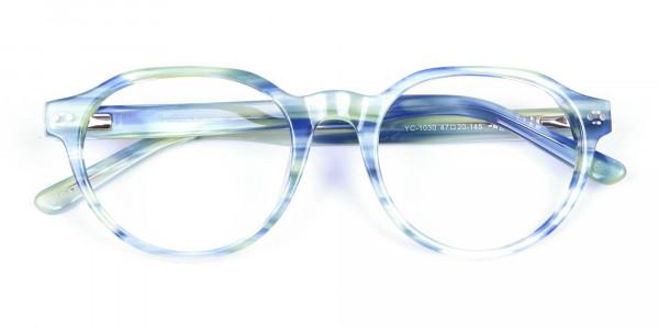 Forest Green & Ocean Blue Eyeglasses - 5