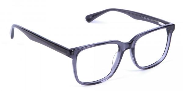 Transparent Grey Glasses - 1