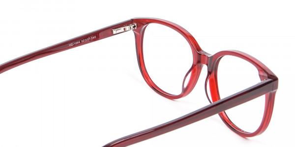 Indulging Designer Frame in Cherry Red, Online - 4