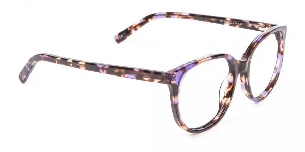 Purple and Tortoiseshell Frame in Low Bridge Fit - 1