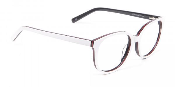 White Glasses in Wayfarer-Cateye Style - 1