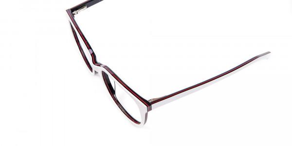 White Glasses in Wayfarer-Cateye Style - 5