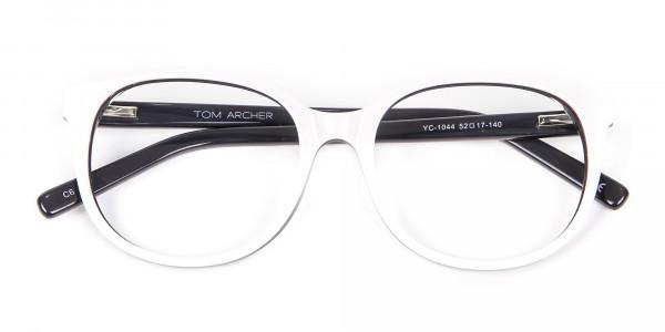 White Glasses in Wayfarer-Cateye Style - 6