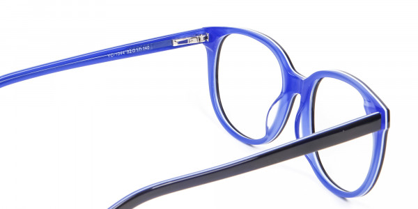 Black and Royal Blue Cat Eye Frame - 4