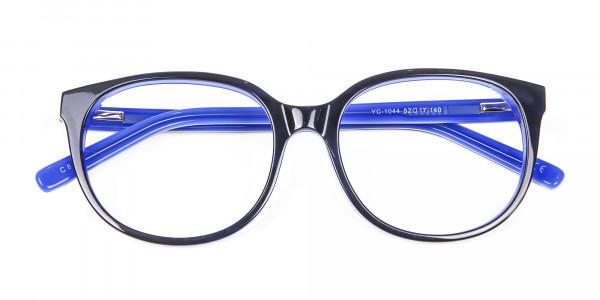 Black and Royal Blue Cat Eye Frame - 6