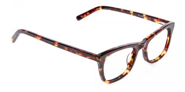 Warm-toned Tortoiseshell Glasses in Cat Eye Style - 1