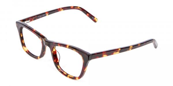 Warm-toned Tortoiseshell Glasses in Cat Eye Style - 2
