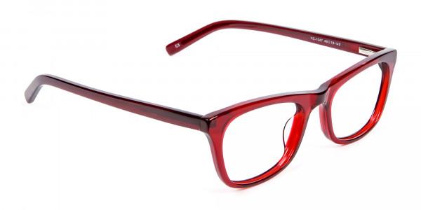 Cherry Wine Cat Eye Glasses - 1