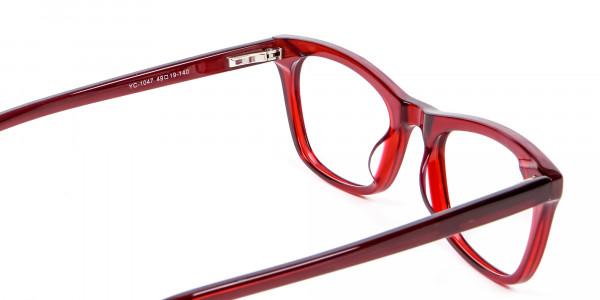 Cherry Wine Cat Eye Glasses - 4