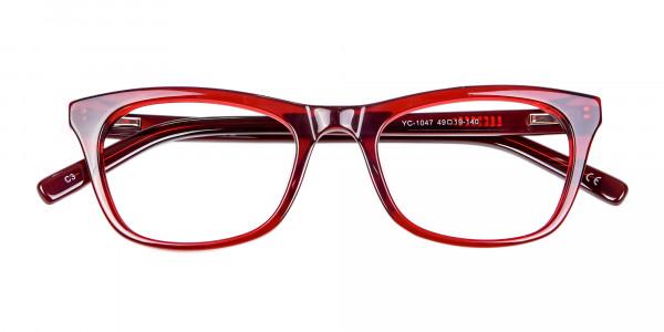 Cherry Wine Cat Eye Glasses - 5