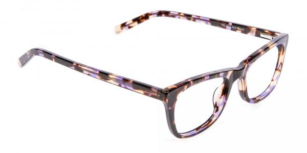Neutral Frame in Tortoiseshell and Purple -1