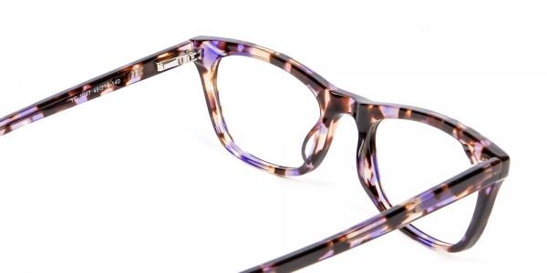 Neutral Frame in Tortoiseshell and Purple -4