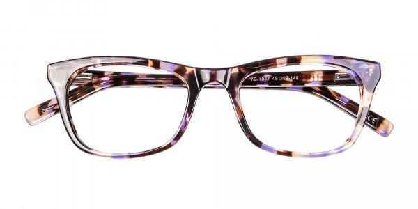 Neutral Frame in Tortoiseshell and Purple -5