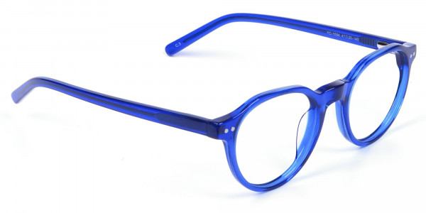 Ocean Electric Blue Retro Eyeglasses - 1