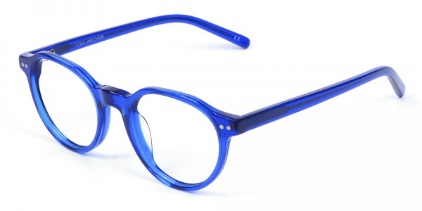 Ocean Electric Blue Retro Eyeglasses - 2