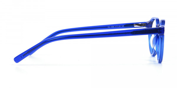 Ocean Electric Blue Retro Eyeglasses - 3
