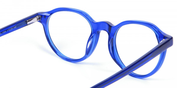 Ocean Electric Blue Retro Eyeglasses - 4