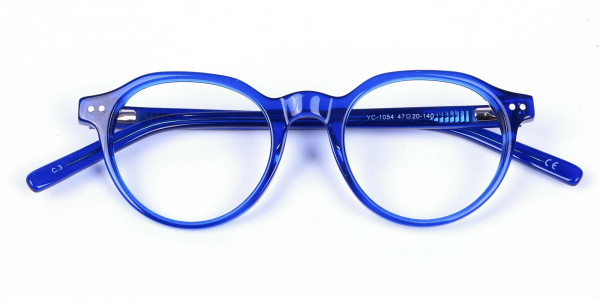 Ocean Electric Blue Retro Eyeglasses - 5