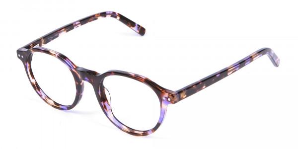 Violet Havana Tortoiseshell Stylish Glasses - 2