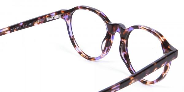 Violet Havana Tortoiseshell Stylish Glasses - 4
