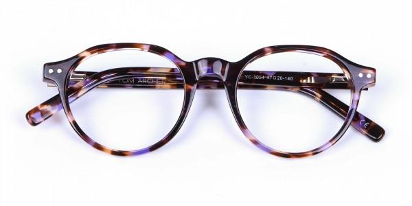 Violet Havana Tortoiseshell Stylish Glasses - 5